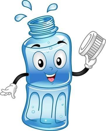 Botella agua clipart jpg free stock Stock Photo   Career woman?   Alimentos dibujos, Botellas de agua y ... jpg free stock