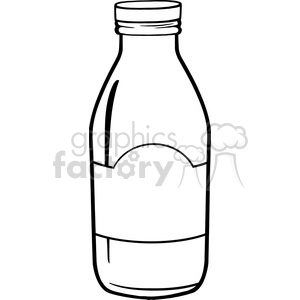 Water bottle paper clipart black and white jpg royalty free Royalty Free RF Clipart Illustration Black And White Cartoon Milk Bottle  clipart. Royalty-free clipart # 396165 jpg royalty free