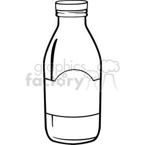 Bottle clipart black and white banner black and white Royalty Free RF Clipart Illustration Black And White Cartoon Milk Bottle  clipart. Royalty-free clipart # 396165 banner black and white