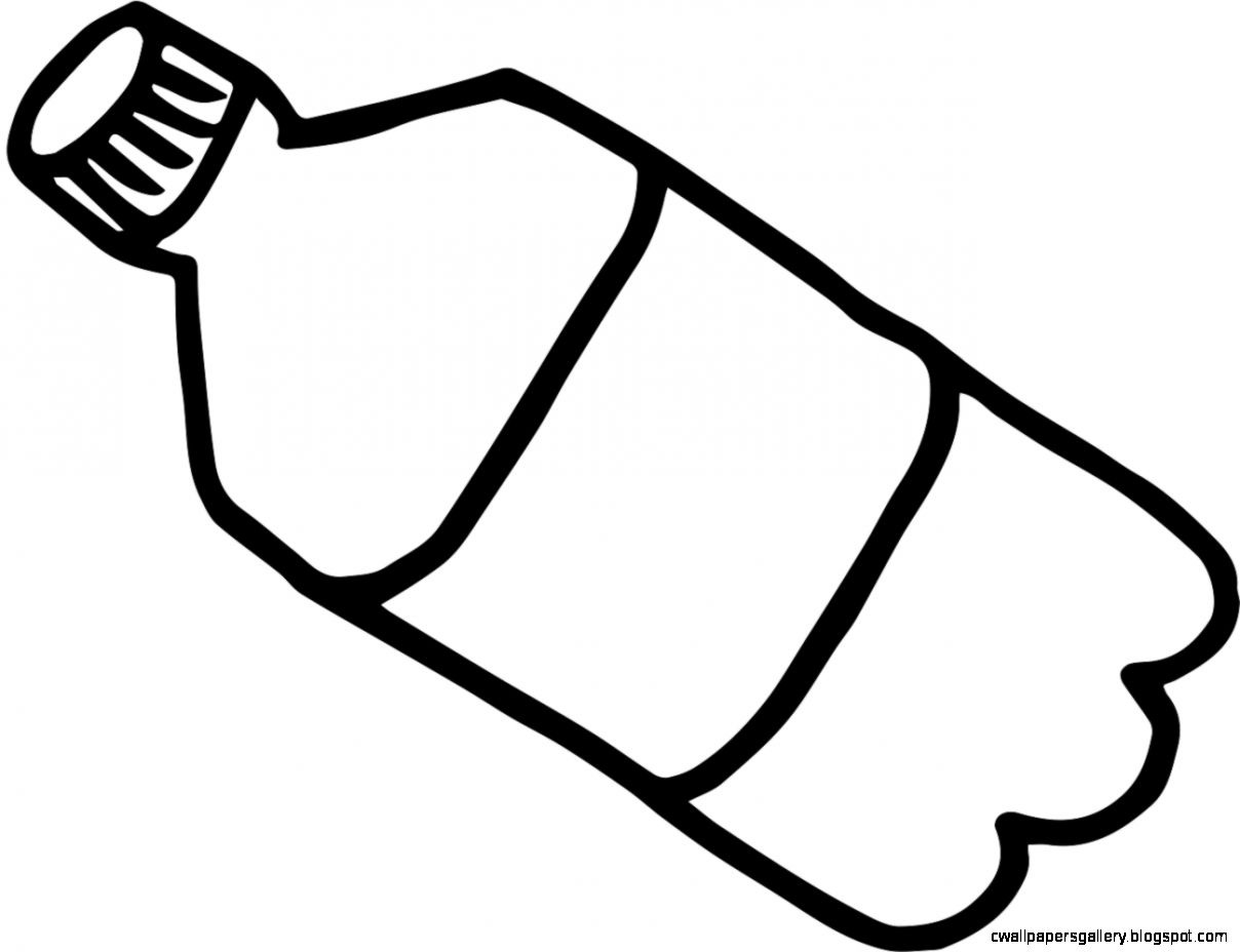 Bottle clipart black and white vector transparent library Water Bottle Clipart Black White – Clipground pertaining to Great Of ... vector transparent library