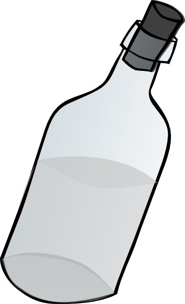 Transparent bottle clipart png royalty free download Glass Bottle Black And White Clip Art at Clker.com - vector clip art ... png royalty free download
