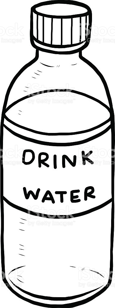 Person drinking water clipart black and white clip art black and white library Water Bottle Clipart Black And White | Free download best Water ... clip art black and white library