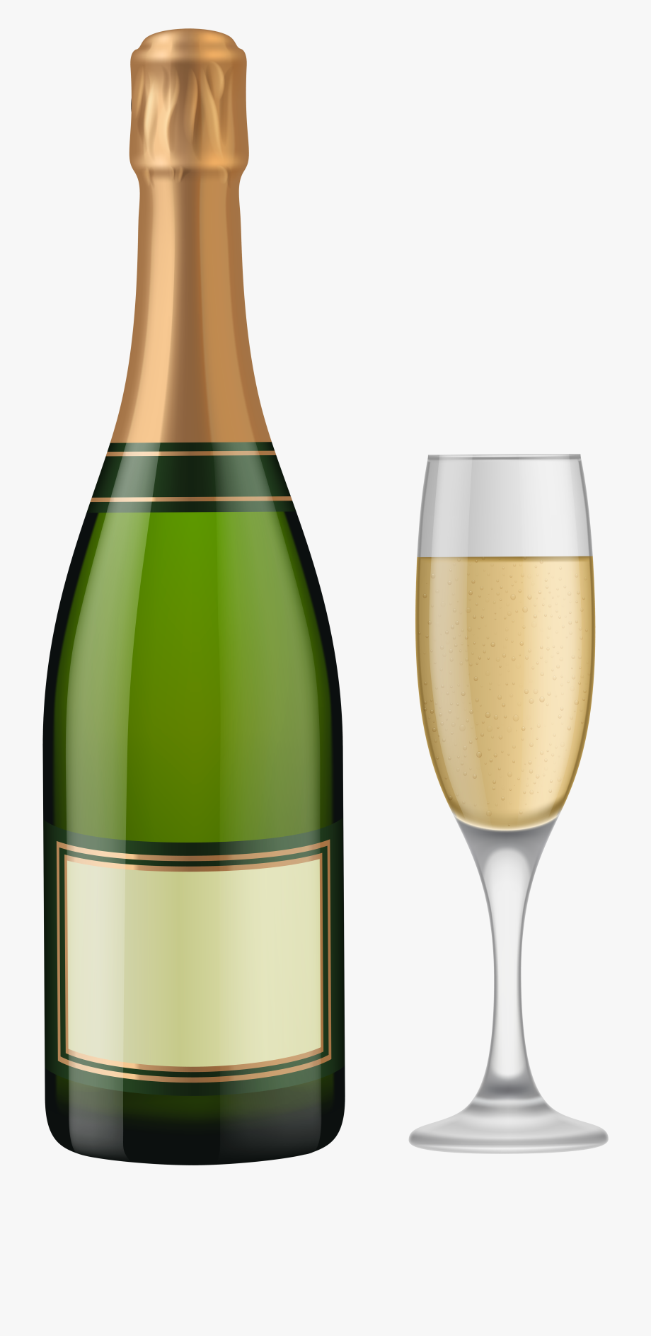 Bottle of champagne glass clipart black and white download Bottle Of Champagne Png - Clip Art Champagne Bottle #289538 - Free ... black and white download