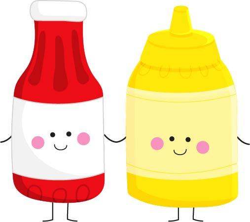 Bottle of mustard clipart vector royalty free download Ketchup to my Mustard Cookie Cutter vector royalty free download