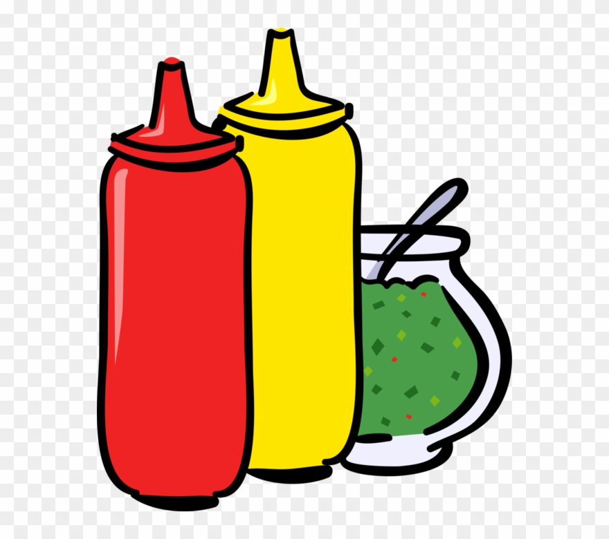 Bottle of mustard clipart graphic free Vector Illustration Of Ketchup, Mustard And Relish - Ketchup Mustard ... graphic free