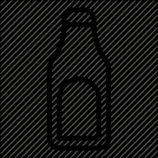 Bottle of salad dressing clipart black and white outline