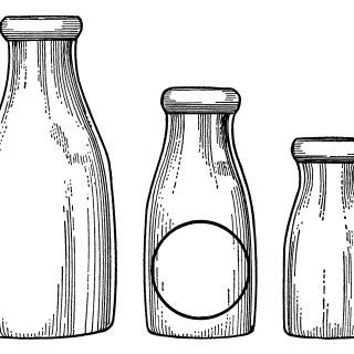 Milk glass bottle clipart clip free library Milk Bottles Clip Art | Sketches and drawings in 2019 | Bottle ... clip free library