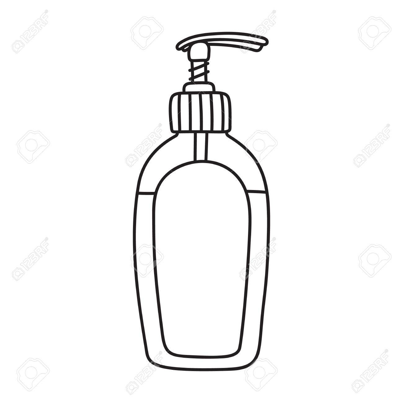 Bottle of soap clipart image black and white stock Soap bottle clipart 2 » Clipart Portal image black and white stock