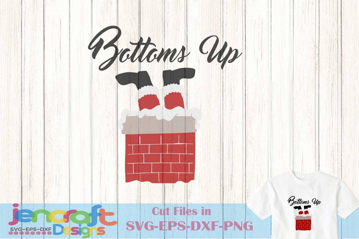 Bottoms up clipart clip art black and white stock Santa in chimney svg - Santa Bottoms Up SVG, Christmas SVG clip art black and white stock