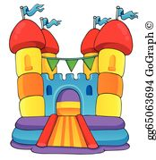 Bouncing castle clipart
