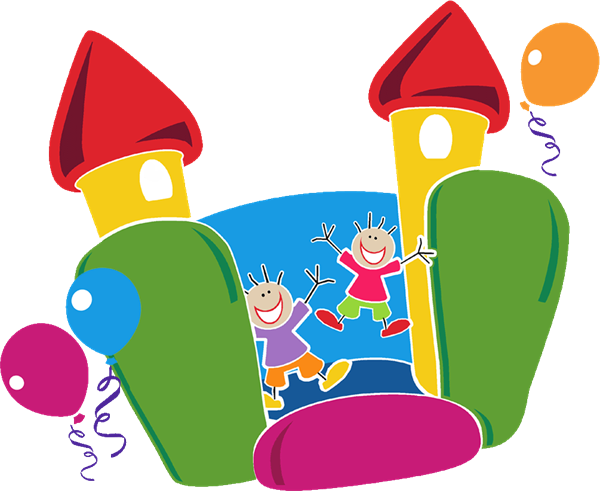 Bounce colorful clipart vector free stock Free Bounce House Clipart, Download Free Clip Art, Free Clip Art on ... vector free stock