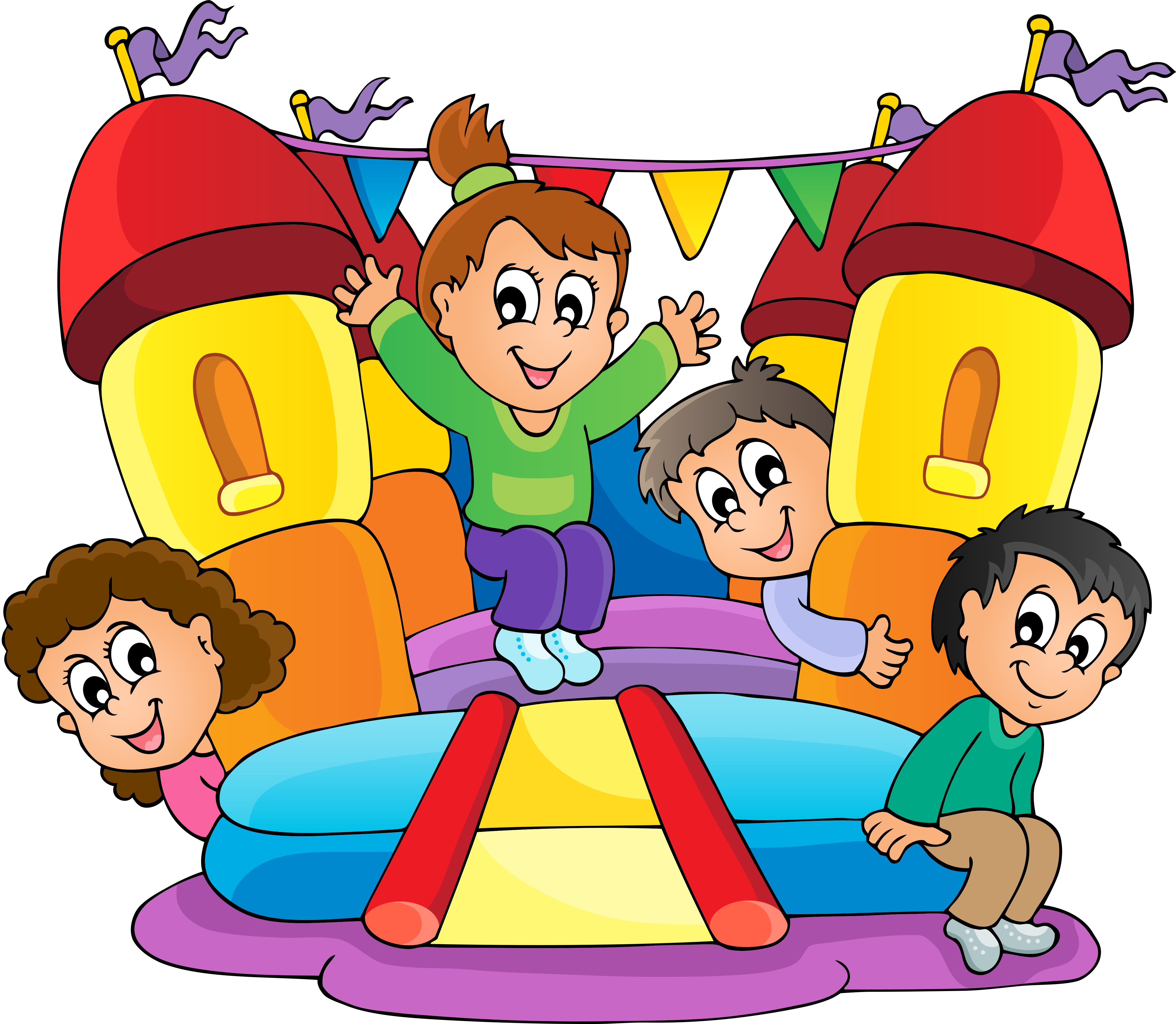 Bounce house castle clipart vector library library Pin by Kizia Mizia on dzieci-obrazki | Pinterest vector library library