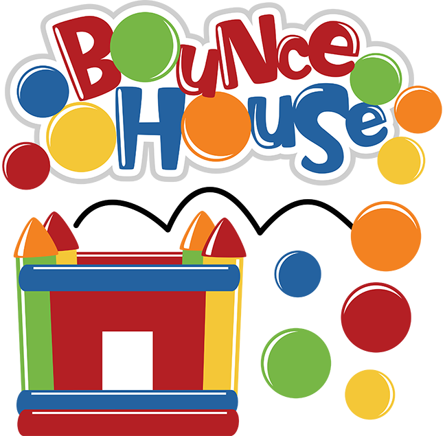 Party house clipart picture transparent library Bounce House - SVG scrapbooking files | Cuttable Scrapbook SVG Files ... picture transparent library