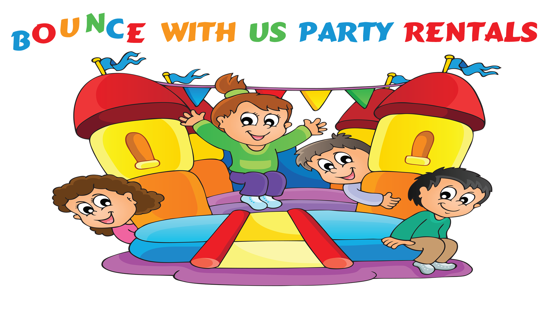 Children playing house clipart transparent stock Bounce With Us Party Rentals | Bounce House Rental - Denver ... transparent stock