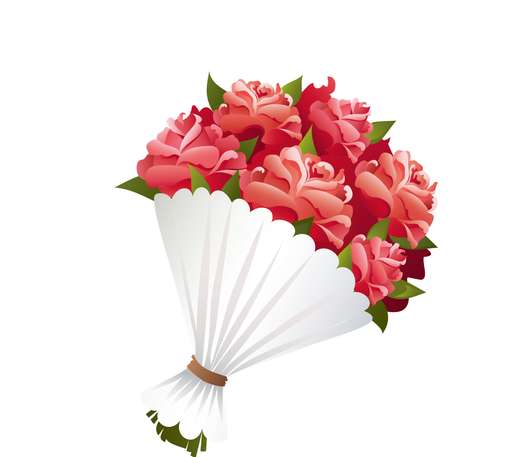 Clipart flower bouquet graphic library Flower bouquet Clip art - Cartoon red valentine rose 2153*1916 ... graphic library