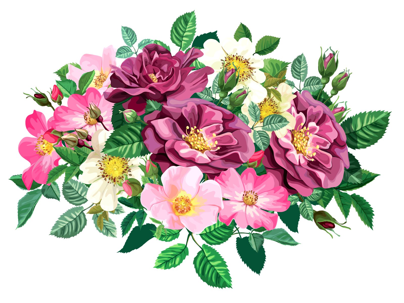 Flower collage clipart vector royalty free ROSE BOUQUET CLİPART TRANSPARENT | Blisse Design Studio vector royalty free