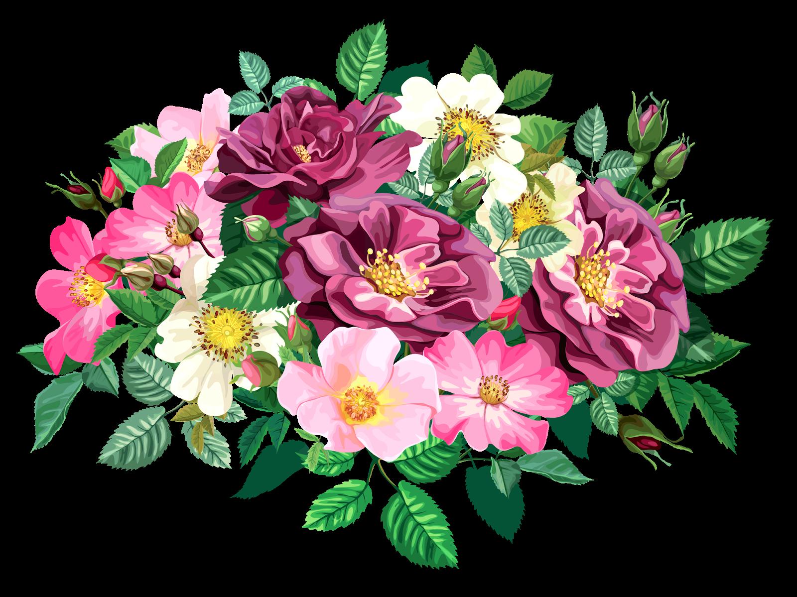 Bouquet of flower clipart vector black and white download ROSE BOUQUET CLİPART TRANSPARENT | Blisse Design Studio vector black and white download