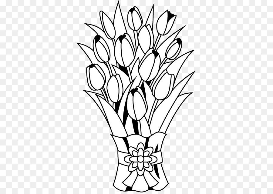 Bouquet of flowers clipart black and white clipart library stock Black And White Flower png download - 394*636 - Free Transparent ... clipart library stock