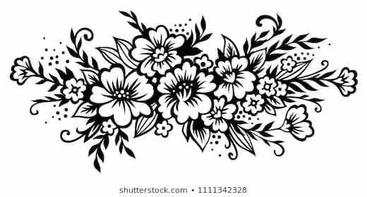 Bouquet of flowers clipart black and white picture library library Flowers bouquet clipart black and white 6 » Clipart Portal picture library library