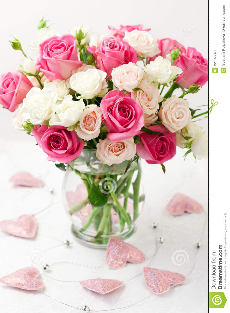 Bouquet of flowers pictures free graphic royalty free download Bouquet Of Roses In Vase Royalty Free Stock Images - Image: 22197249 graphic royalty free download