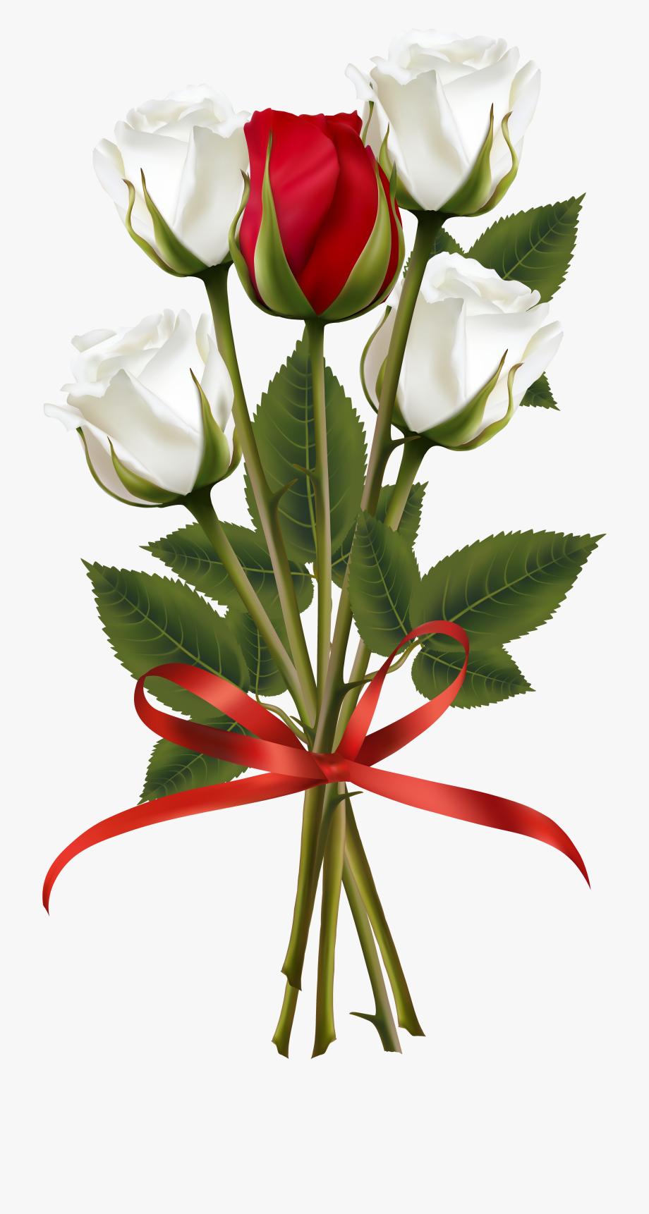 Bouquet of roses clipart svg download Flower Bouquet Rose Red Clip Art - Transparent Flower Bouquet Png ... svg download