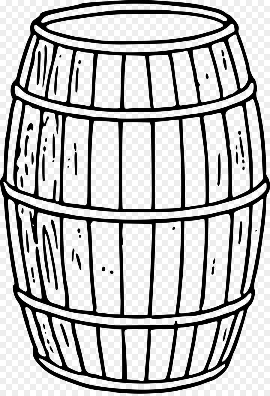 Bourbon barrel clipart svg library download Barrel Line Art png download - 1646*2400 - Free Transparent Barrel ... svg library download