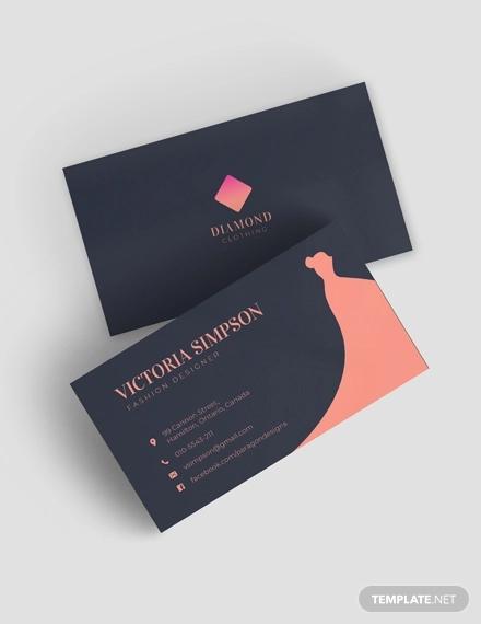Boutique business card clipart