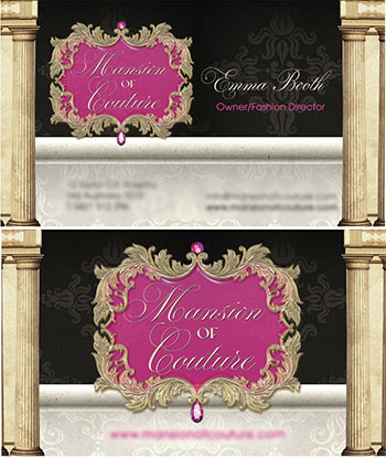 Boutique business card clipart clipart library Boutique, Beautiful Custom Business Card Design Portfolio - Blossom ... clipart library