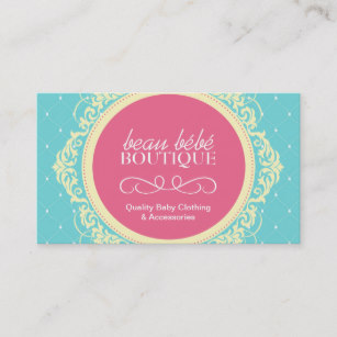 Boutique business card clipart picture library library Customizable Baby Boutique Business Card picture library library