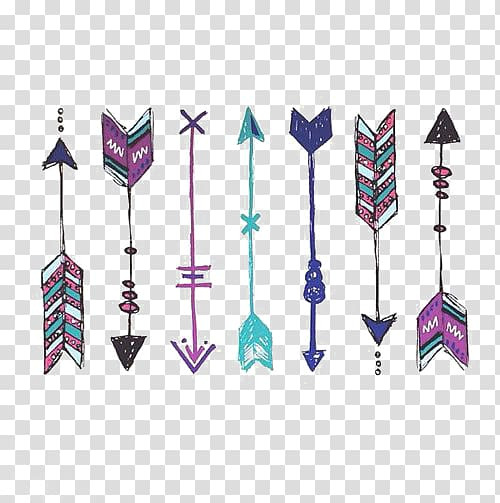 Bow and arrow boho baby blue clipart banner library download Assorted-color arrows , Abziehtattoo Bohemianism Boho-chic Fashion ... banner library download