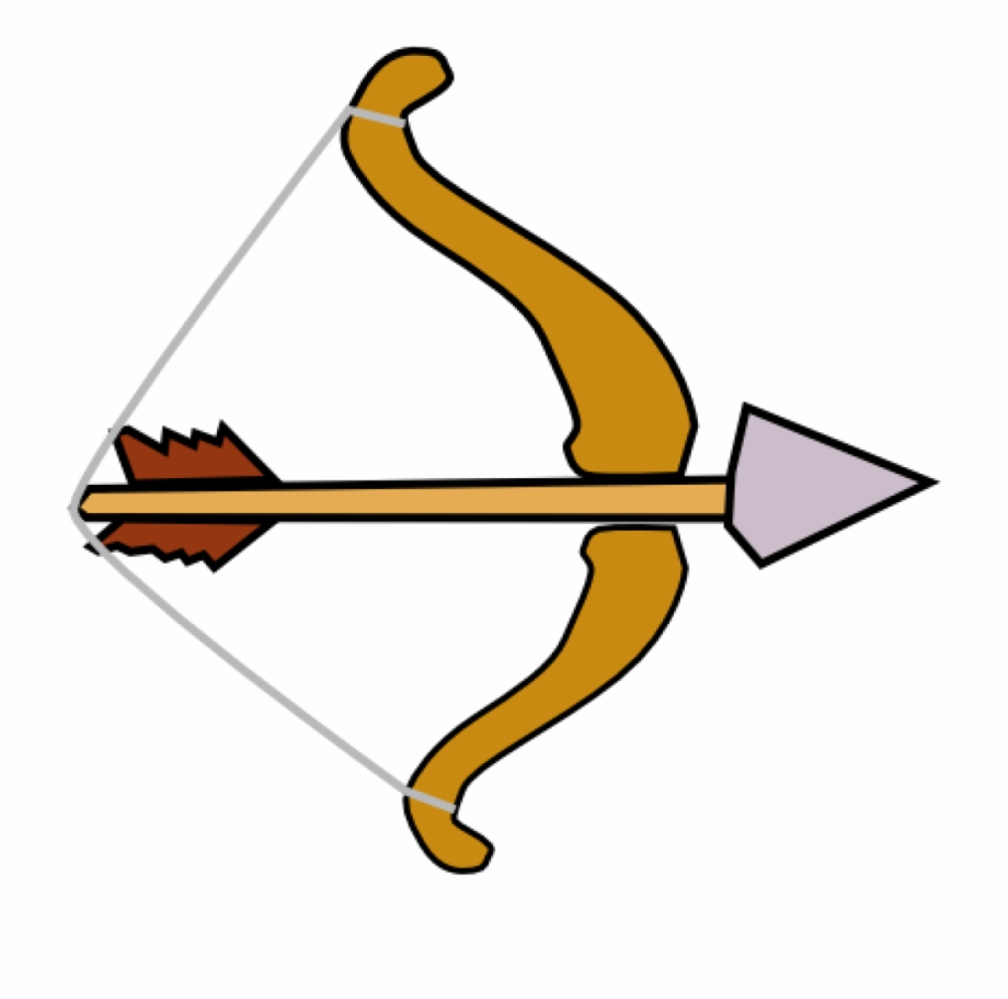 Clipart picture of a bow and arrow