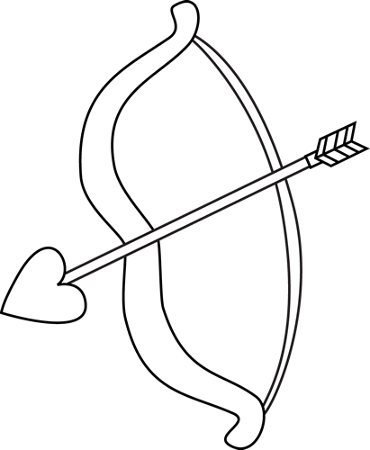 Bow and arrow cute clipart. Clipartfest day