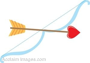 Cupid kid clip art. Bow and arrow cute clipart