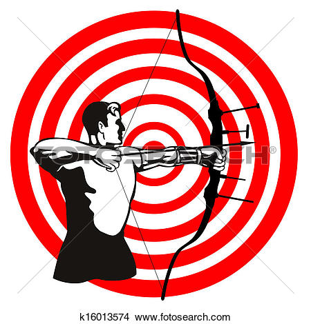 Drawings of archer k. Bow and arrow target clipart