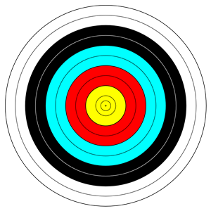 Bow and arrow target clipart. Archery targets clipartfest face