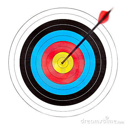 Archery stock photos images. Bow and arrow target clipart