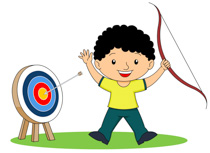 Bow and arrow target clipart. Free sports archery clip