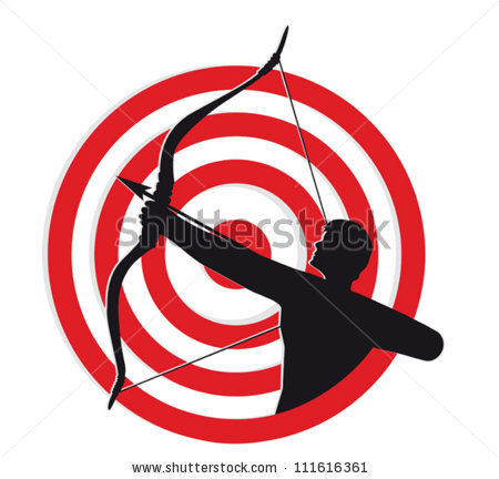 Stock photos royalty free. Bow and arrow target clipart
