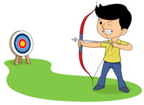 Free sports archery clip. Bow and arrow target clipart