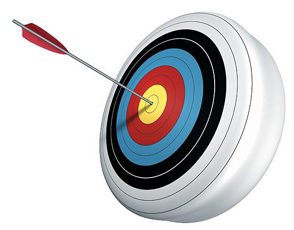 Bow and arrow target clipart clip stock Arrow Bullseye Cartoon Clipart - Clipart Kid clip stock