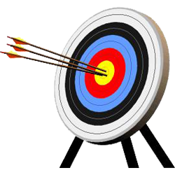 Targets best medieval archery. Bow and arrow target clipart