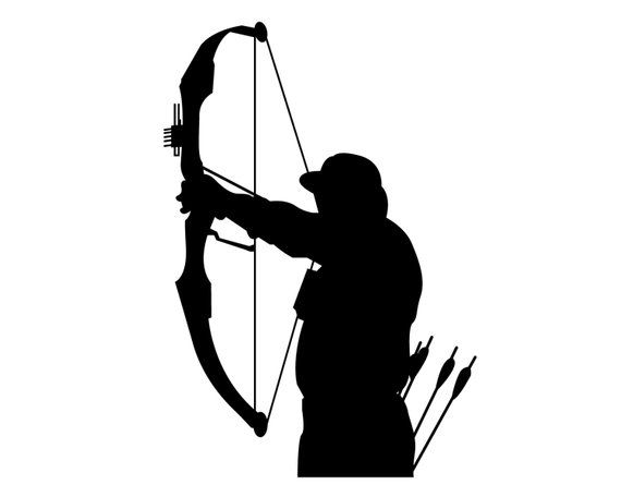 Bow and arrowhunt clipart svg free stock Bow Hunting Vinyl Sticker , Bow Deer Hunter Decal , Compound Bow ... svg free stock