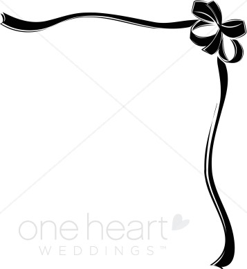 Bow border clipart png free library Black Ribbon Bow Border | Ribbon Borders png free library