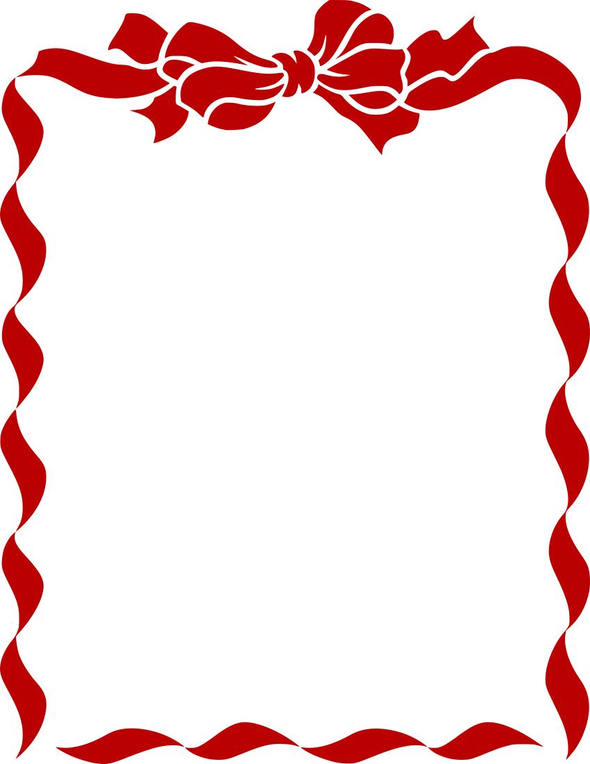 Bow border clipart clip art library ribbon bow border red - /page_frames/holiday/Christmas/Christmas_3 ... clip art library