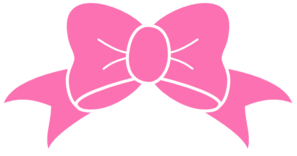 Hot pink bow clip. Free clipart of bows