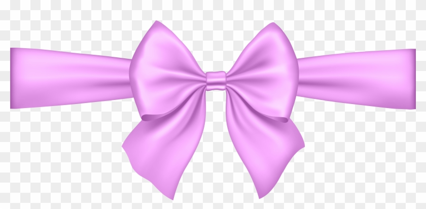 Bow clipart transparent background clip royalty free Pink Bow Transparent Png Clip Art - Ribbon Clipart Transparent ... clip royalty free