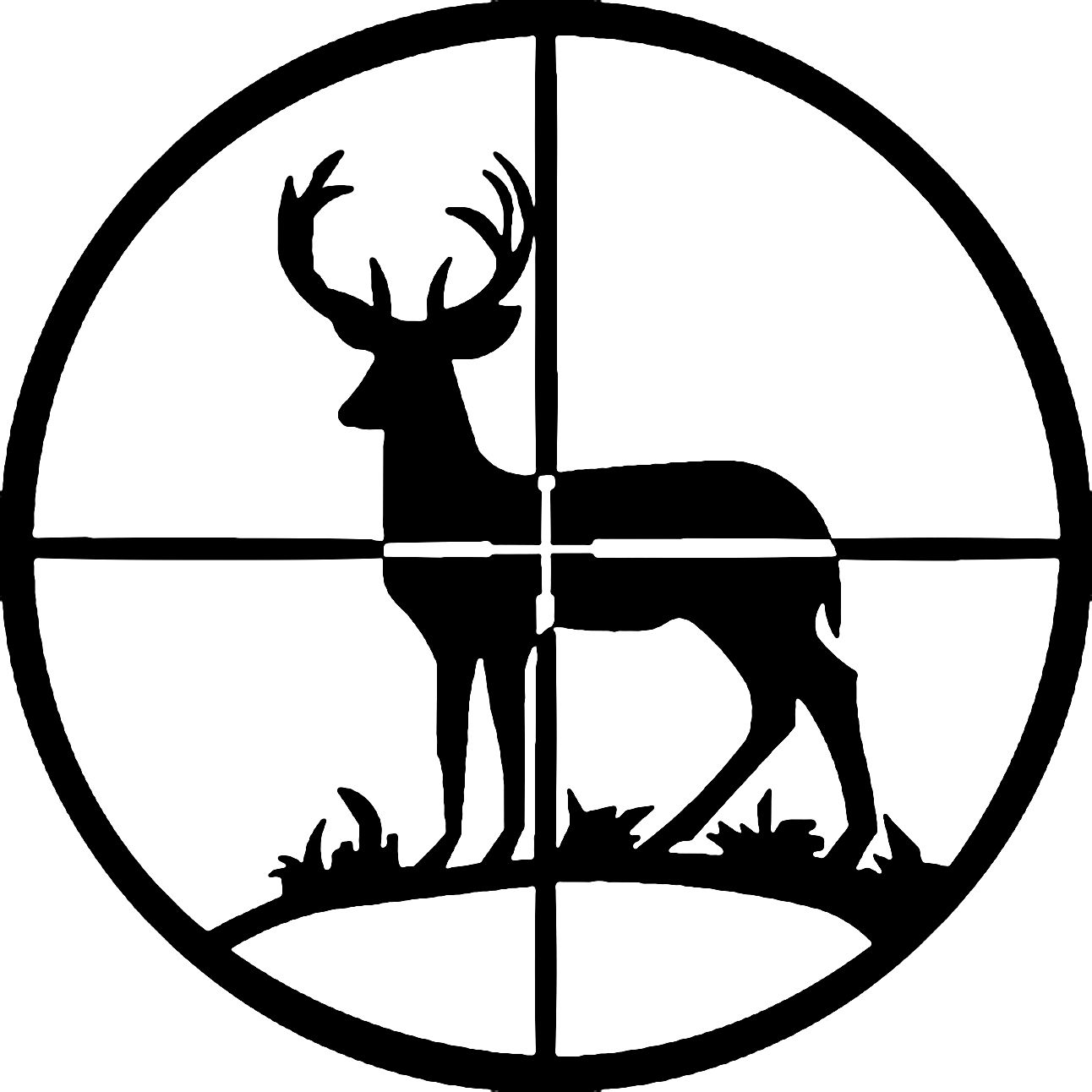 Free black and white clipart images deer hunting. Silhouette vinyl decal