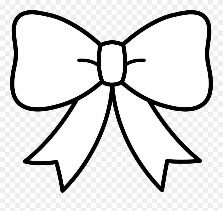 Ribbon bow clipart black and white banner freeuse download Bow Clipart Black And White - Ribbon Clipart Black And White - Png ... banner freeuse download