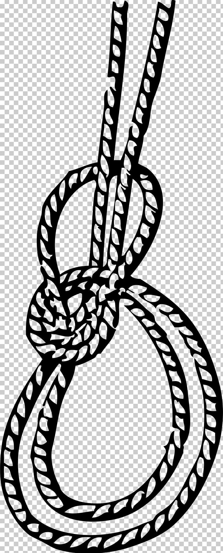 Bow line clipart banner black and white library Bowline On A Bight Knot Running Bowline PNG, Clipart, Bight, Black ... banner black and white library