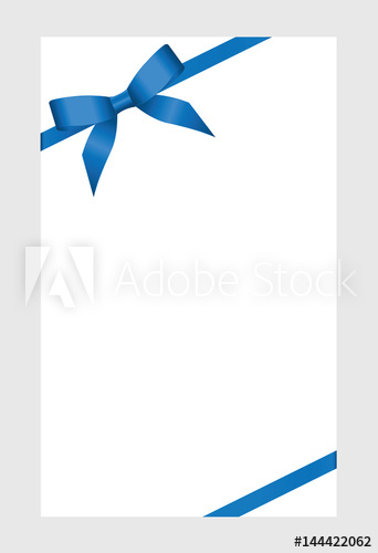 Bow ribbon clipart for certificate to write on image transparent stock Gift certificate, Gift Card With blue Ribbon And A Bow on white ... image transparent stock